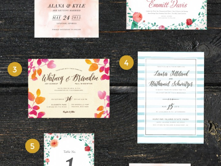 Watercolor Craze – Watercolor Texture in Wedding Stationery