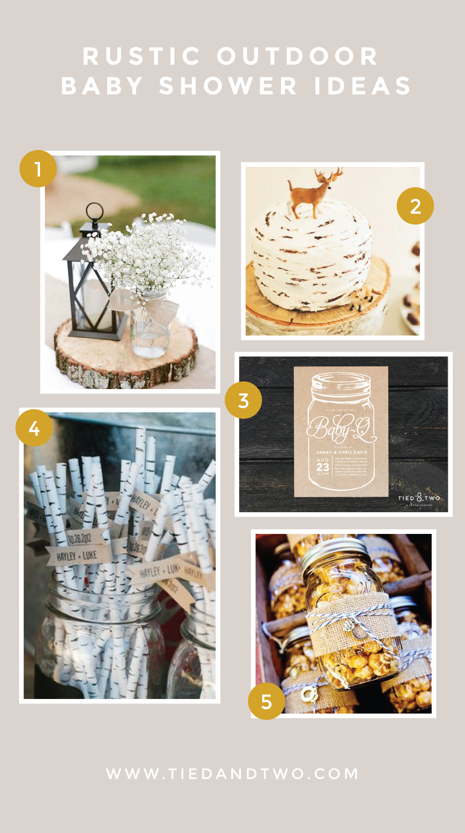 Rustic Outdoor Baby Shower Ideas Tied Two