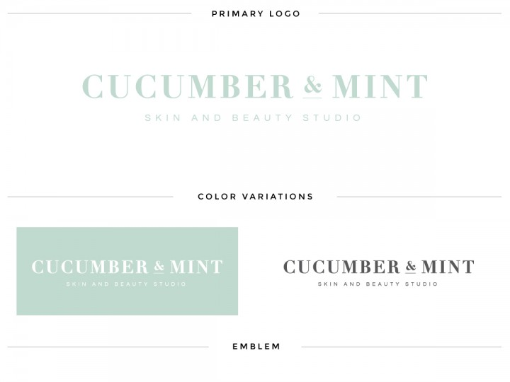 Augusta Salon Logo Design | Cucumber & Mint Brand Launch