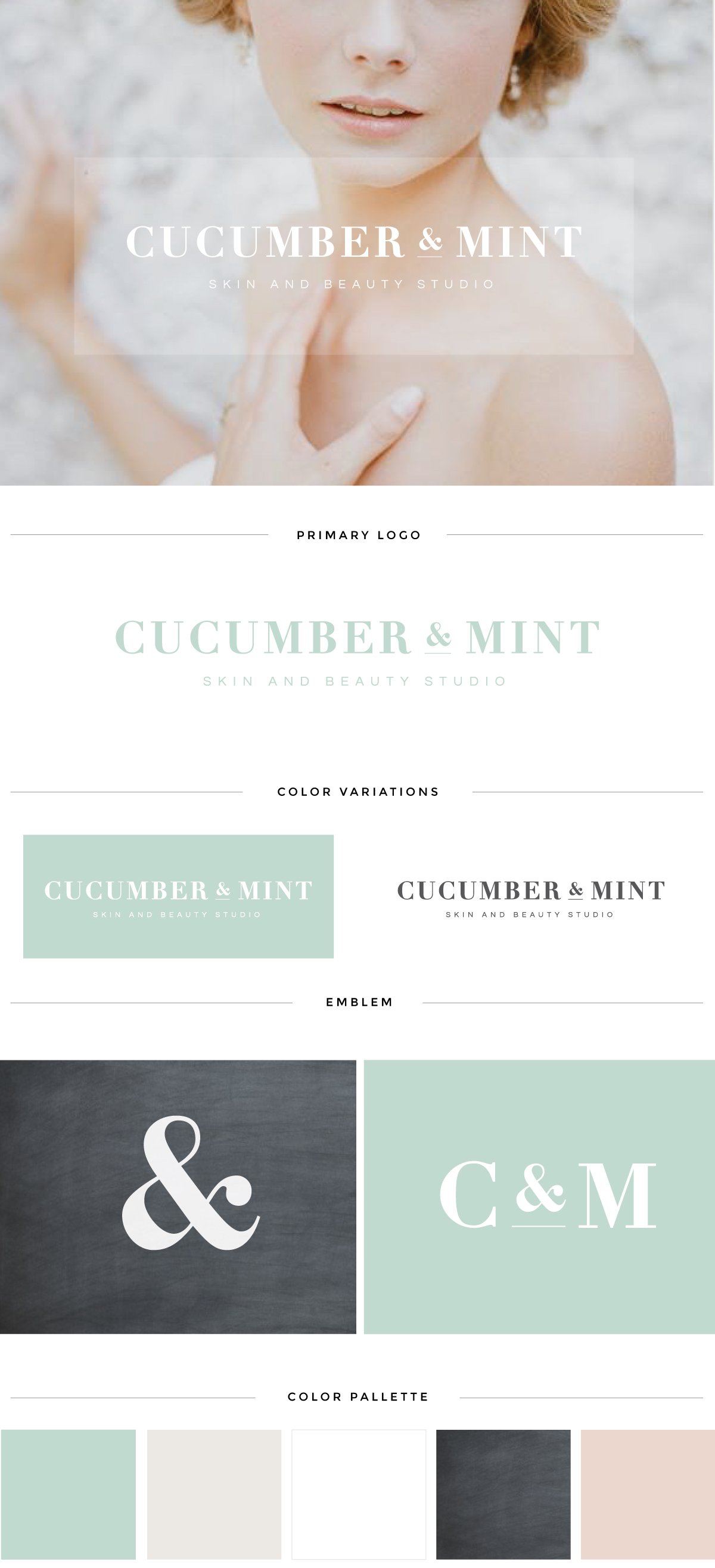 augusta salon logo design cucumber mint brand launch