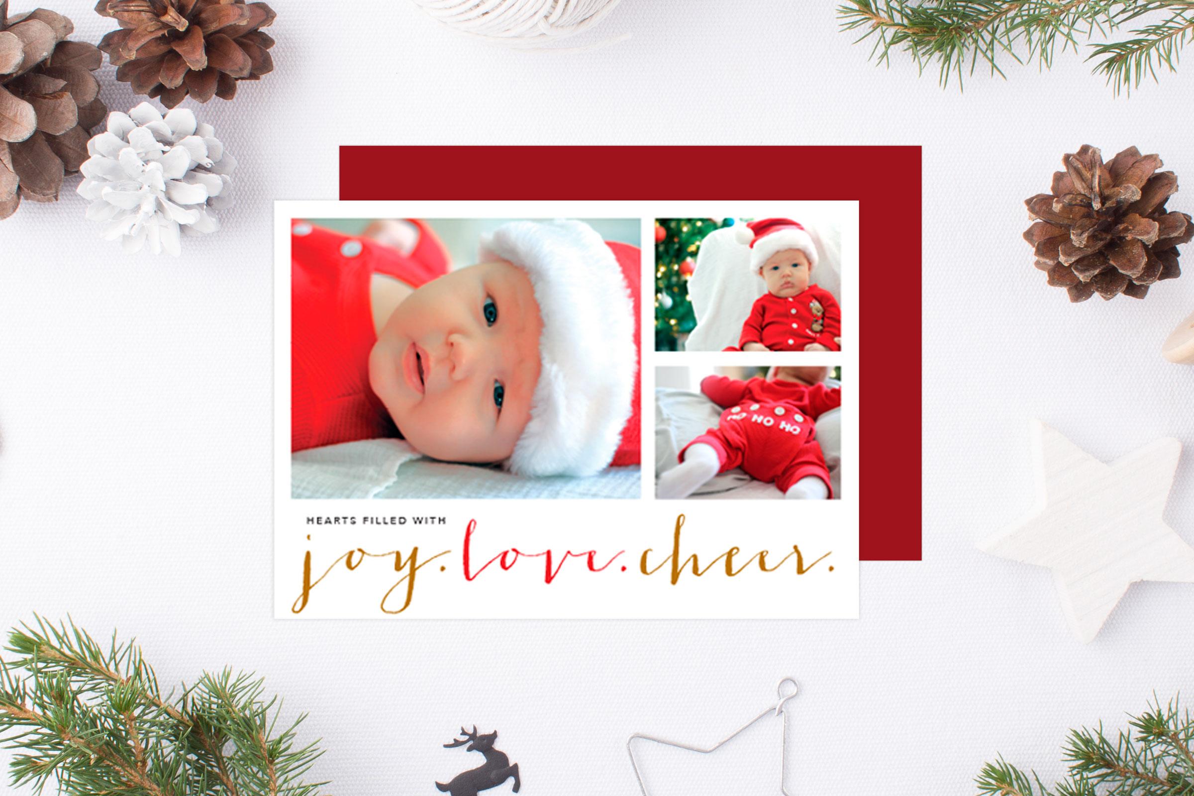 Christmas Cards Tis The Season Tied Two