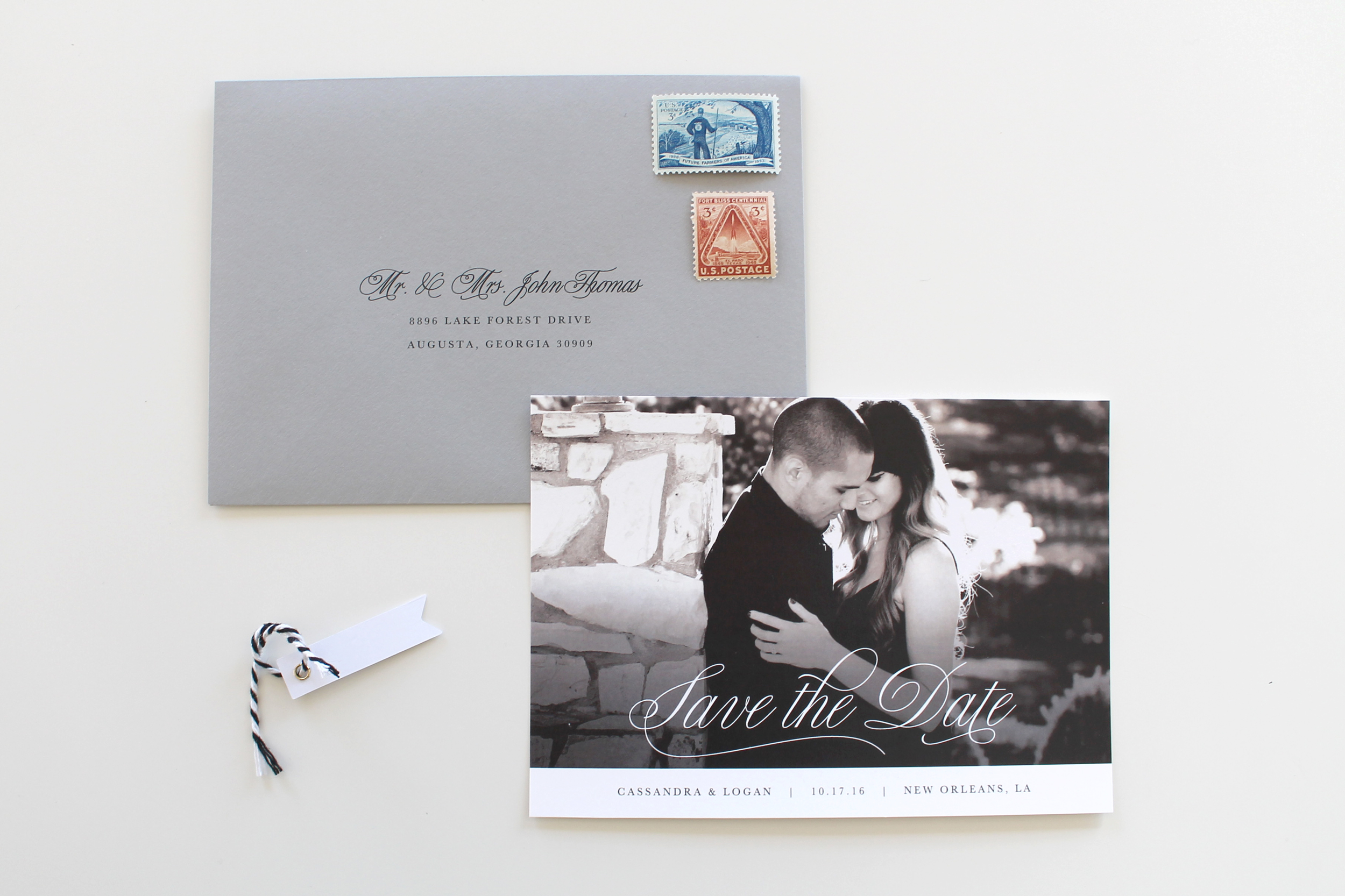 Charlotte Wedding Invitations | Traditional Wedding | Tied & Two