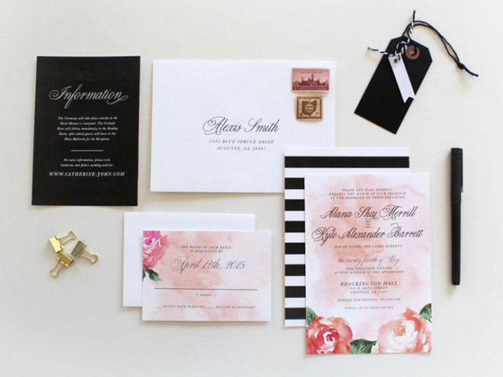 Modern Wedding Invitations Charlotte, NC