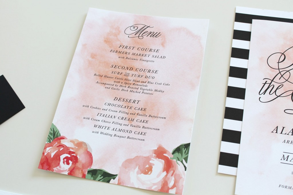 Floral-Watercolor-Wedding-Menu