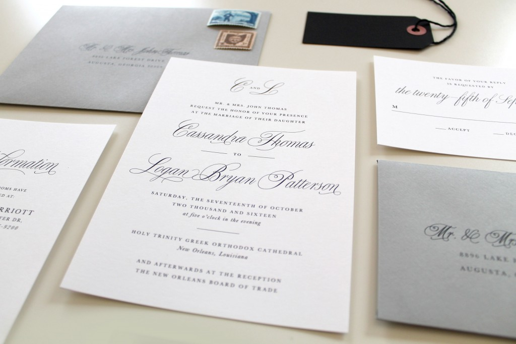 Charlotte Wedding Invitations Traditional Wedding – Traditional Wedding Invite