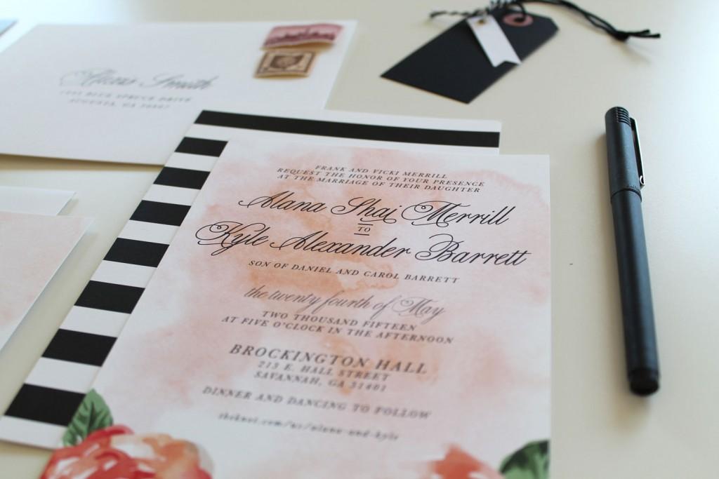 Modern Wedding Invitations Charlotte, NC | Tied & Two