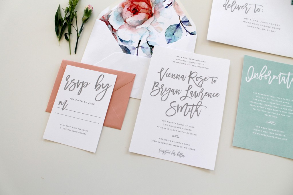 Calligraphy Wedding Invitation Suite – Wedding Invitations Calligraphy