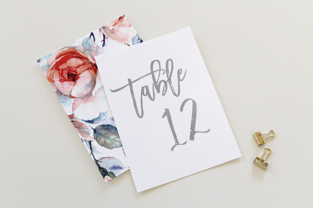 Calligraphy-Table-Numbers