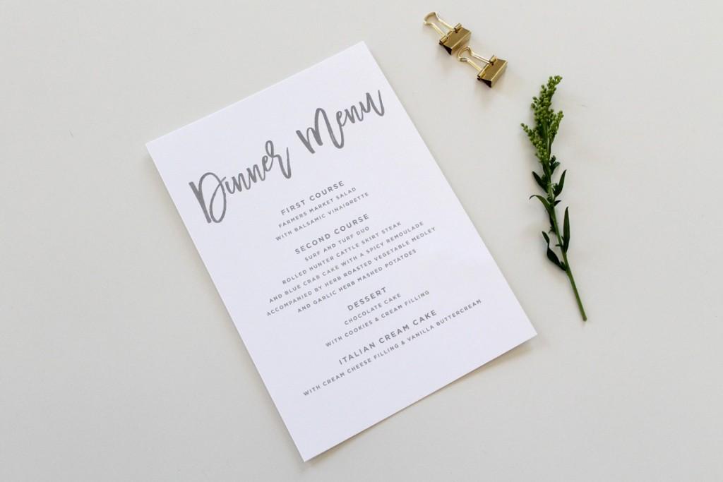 Simple-Wedding-Menu