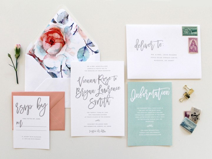Calligraphy Wedding Invitations in Augusta Georgia – Wedding Invitations Calligraphy