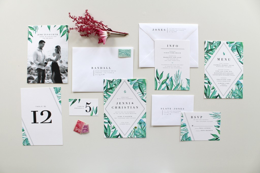 Good Botanical Wedding Invitation Suite
