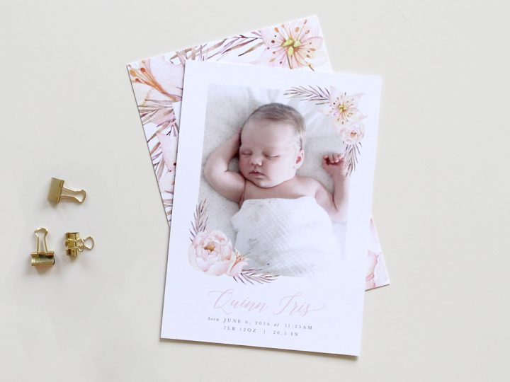 Beautiful Birth Announcement | Quinn Iris
