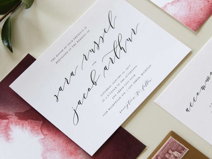 Calligraphy Wedding Invitations in Augusta Georgia