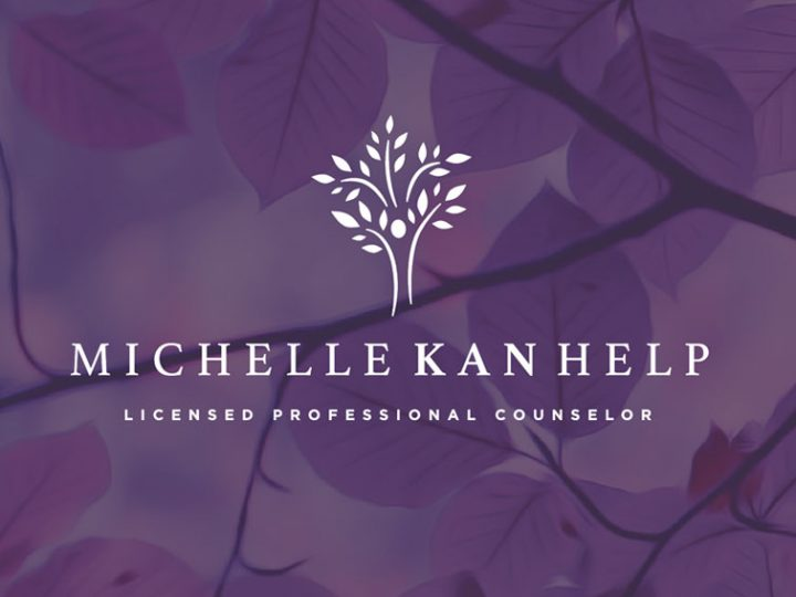 Professional Counselor Branding | Michelle Kan Help Logo Design