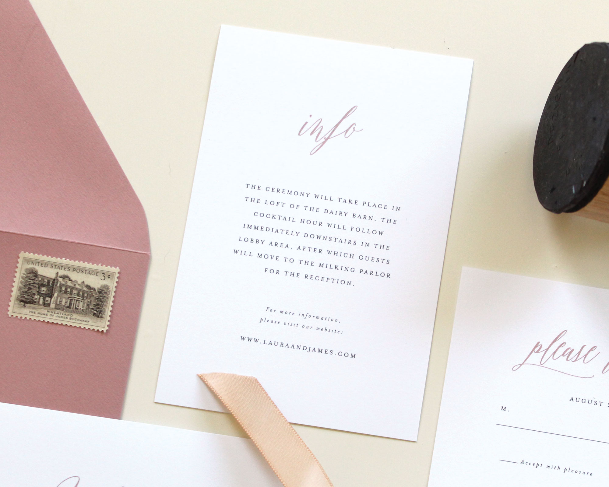 Dusty Rose/Mauve Save The Date