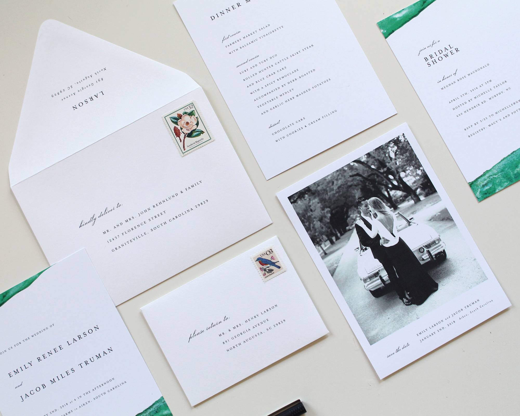 Winter Wedding Invitation Suites | Tied & Two